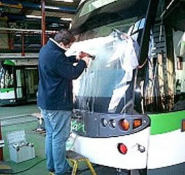 bus windscreen scratch removal